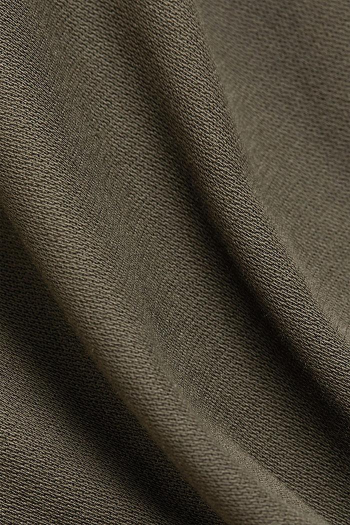 Stretchbroek met COOLMAX® en biologisch katoen, KHAKI GREEN, detail image number 4