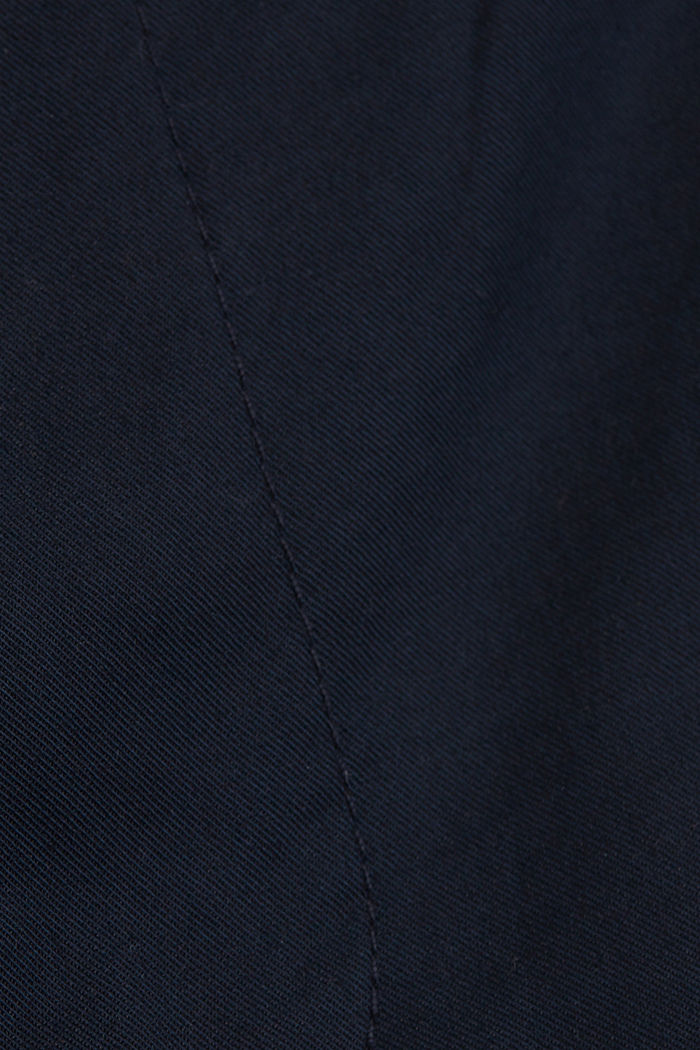 Stretch chinos with COOLMAX® and organic cotton, DARK BLUE, detail image number 4