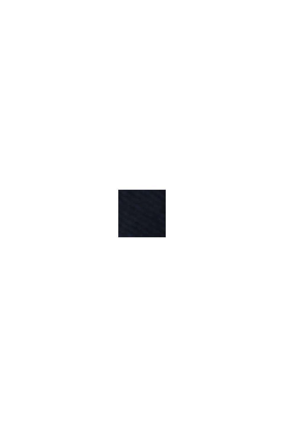 Cropped Chino mit COOLMAX® /Organic Cotton, DARK BLUE, swatch