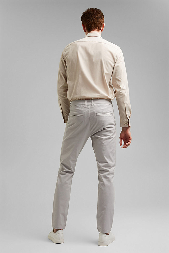 Stretch chinos in organic cotton, LIGHT GREY, detail image number 3