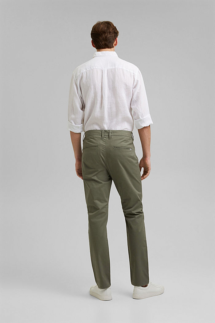 Stretch chinos in organic cotton, LIGHT KHAKI, detail image number 3