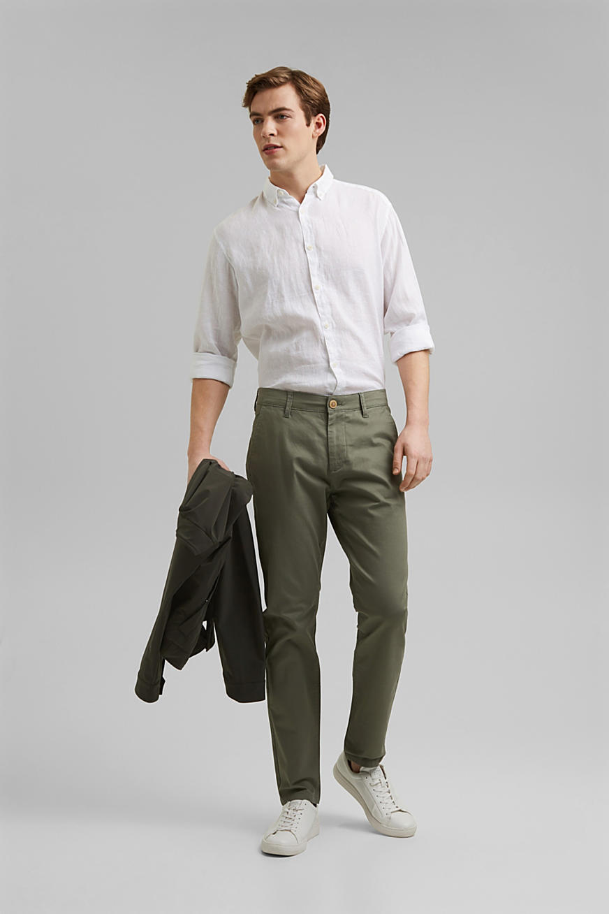 Chino stretch en coton bio