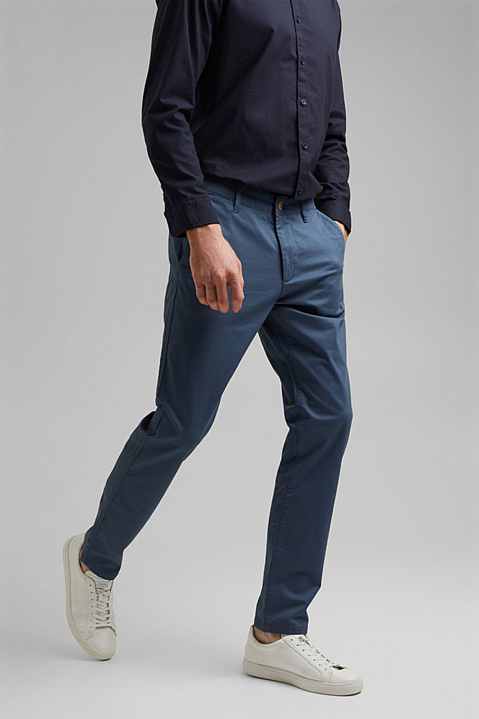 Stretch chinos in organic cotton