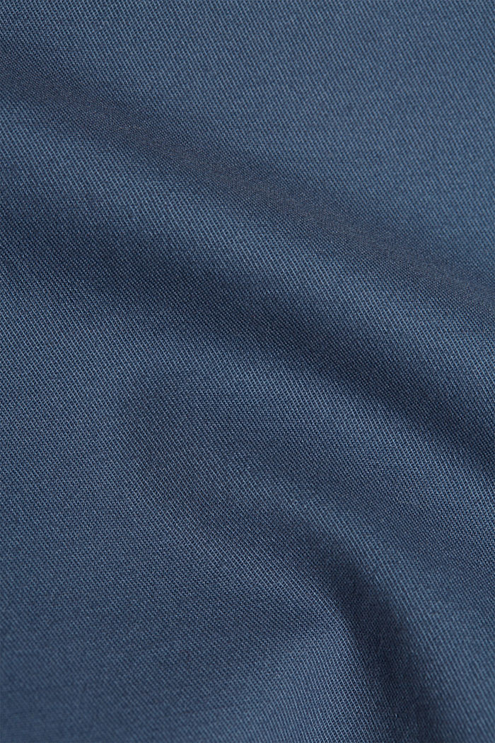 Stretch chinos in organic cotton, GREY BLUE, detail image number 4