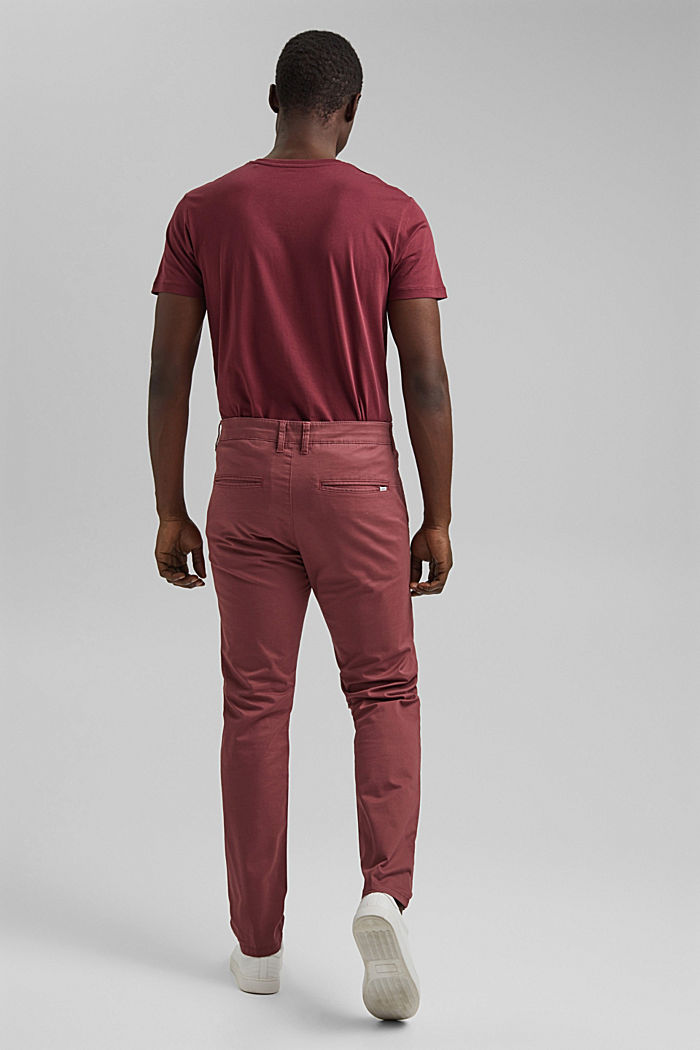 Stretch chinos in organic cotton, BLUSH, detail image number 3