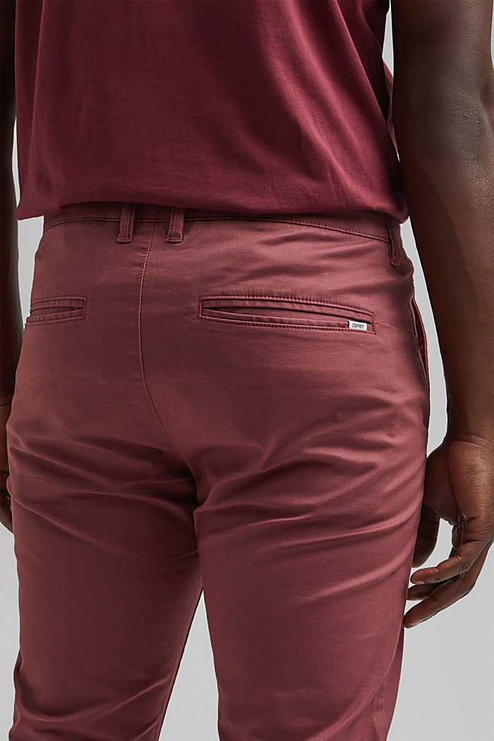 Stretch chinos in organic cotton, BLUSH, detail image number 5