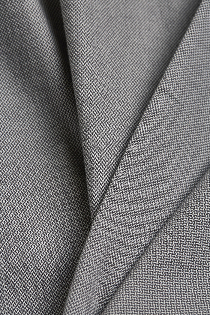 Stretchy, textured trousers, organic cotton, DARK GREY, detail image number 4