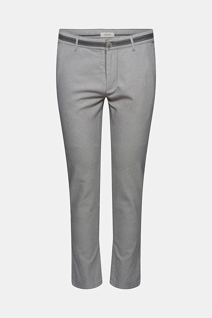 Pantalon stretch texturé, coton biologique