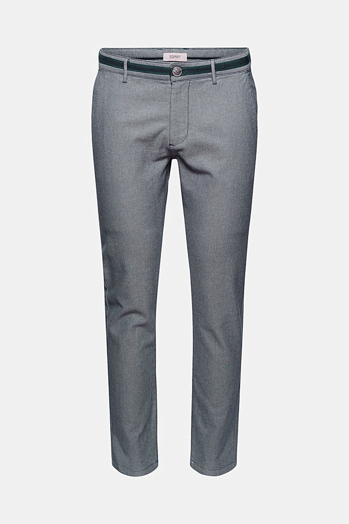 Stretchy, textured trousers, organic cotton