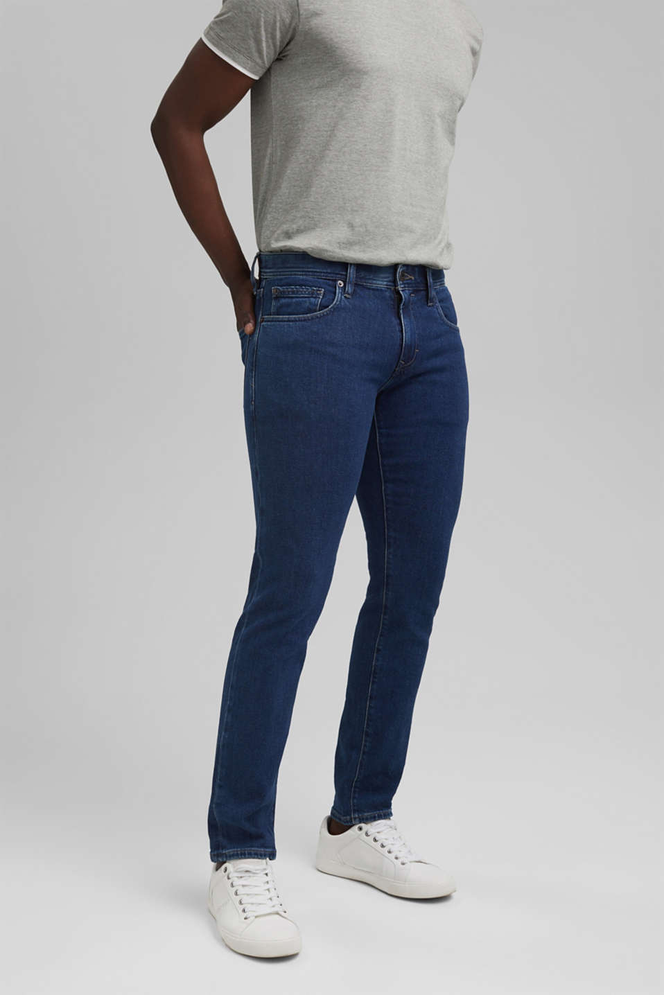 Esprit - Stretch jeans made of lyocell and organic cotton