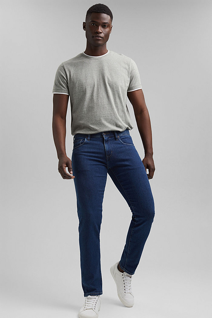 Stretch jeans made of lyocell and organic cotton, BLUE DARK WASHED, detail image number 4
