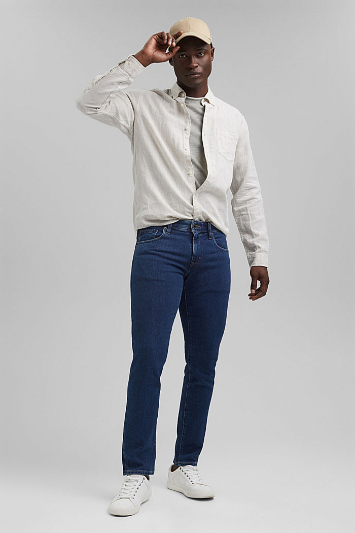 Stretch jeans made of lyocell and organic cotton, BLUE DARK WASHED, detail image number 2