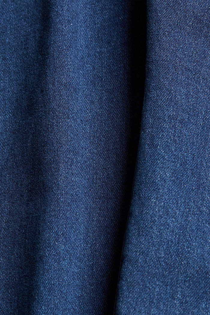 Stretch jeans made of lyocell and organic cotton, BLUE DARK WASHED, detail image number 5