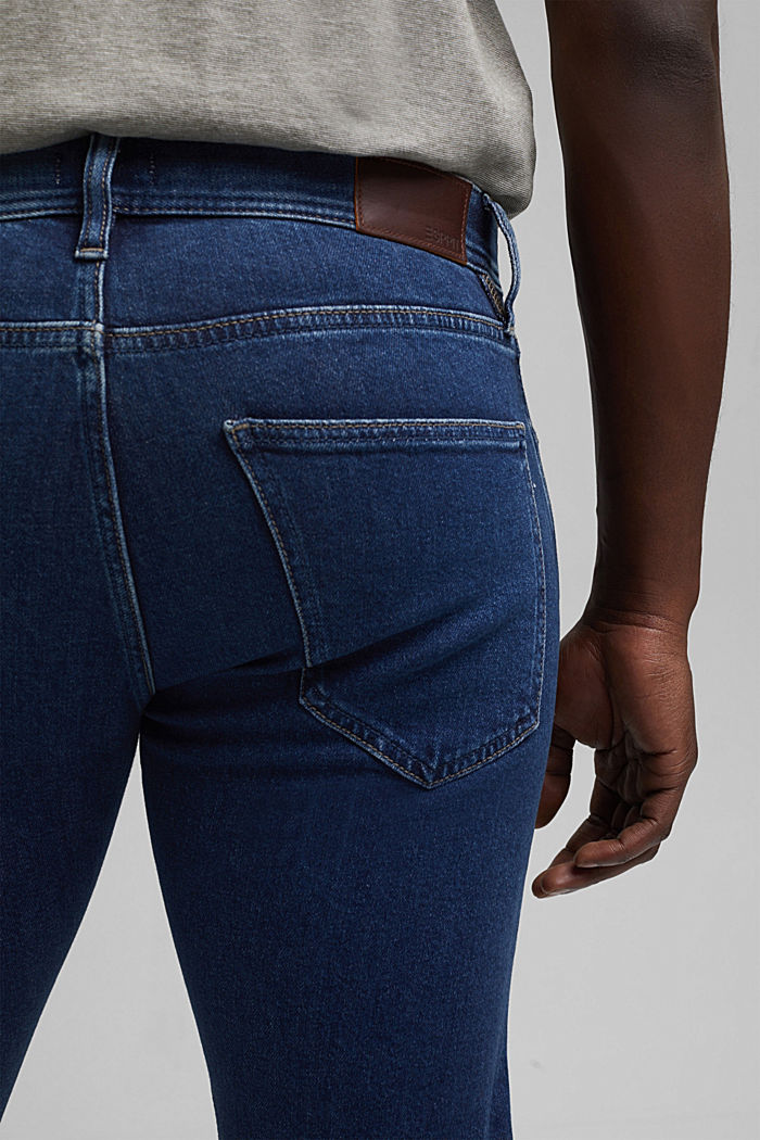 Stretch jeans made of lyocell and organic cotton, BLUE DARK WASHED, detail image number 6