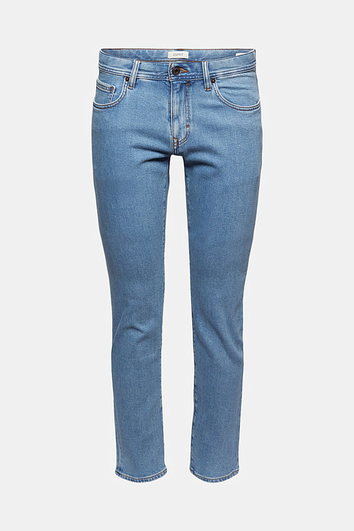 Stretch-Jeans aus Lyocell/Organic Cotton