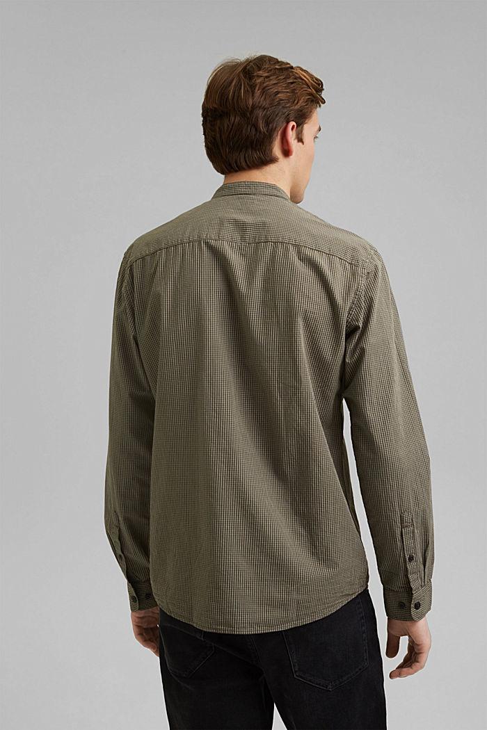 Chemise à carreaux 100% coton bio, DARK KHAKI, detail image number 3