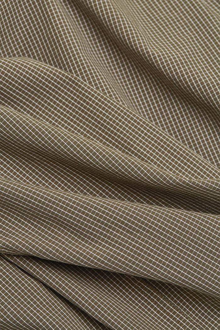 Chemise à carreaux 100% coton bio, DARK KHAKI, detail image number 4