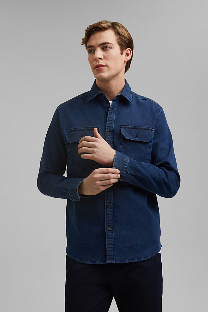 Recycled: overshirt with organic cotton
