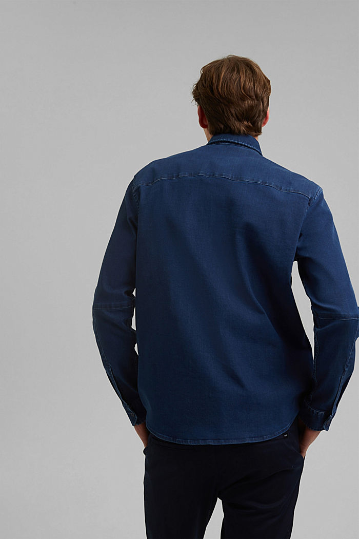 Recycelt: Overshirt mit Organic Cotton, BLUE RINSE, detail image number 3