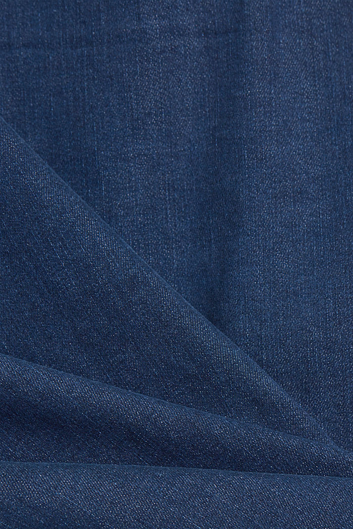 Recycelt: Overshirt mit Organic Cotton, BLUE RINSE, detail image number 4