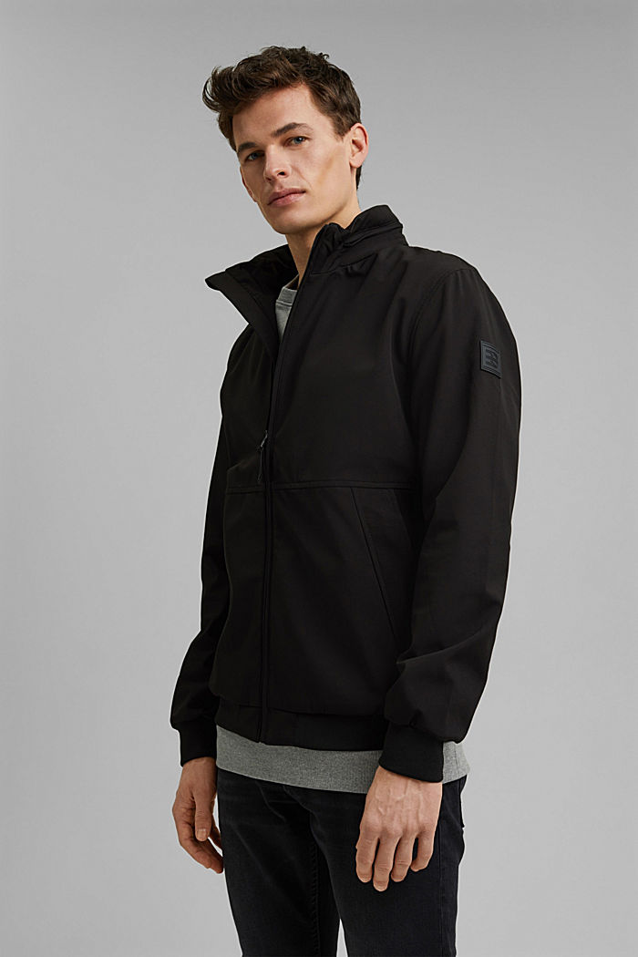 Recycled: softshell jacket with hood
