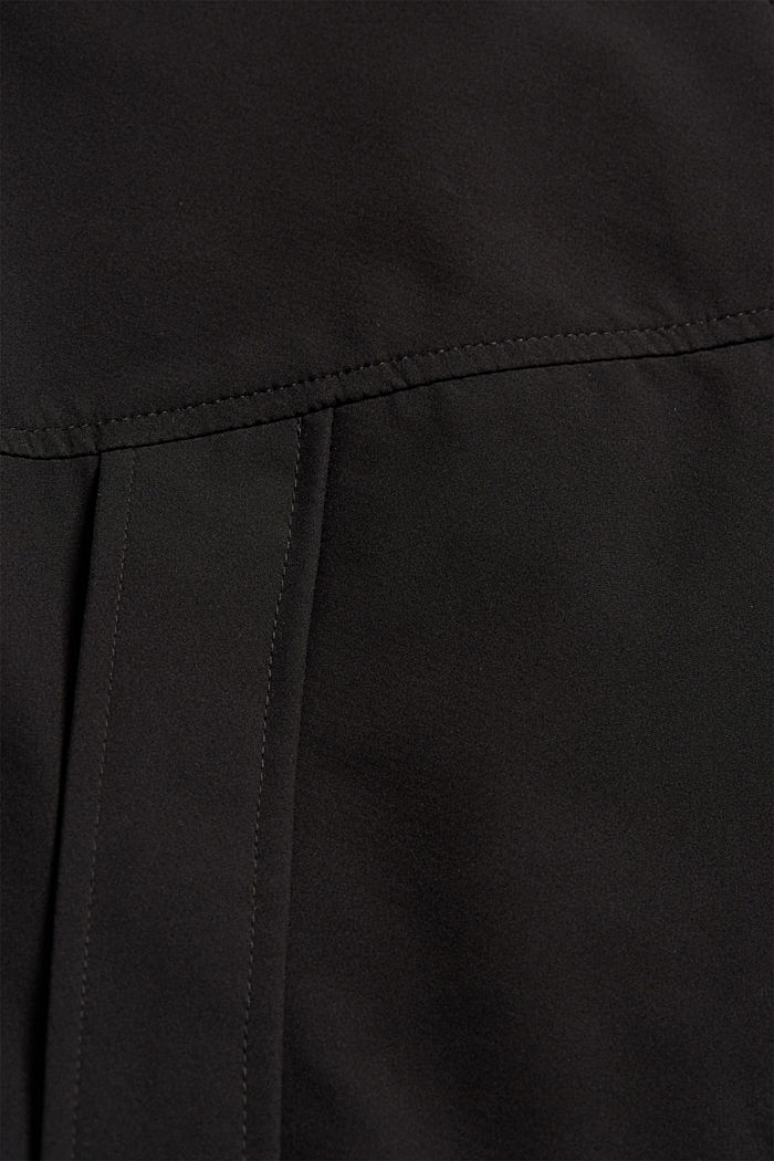Recycled: softshell jacket with hood, BLACK, detail image number 4