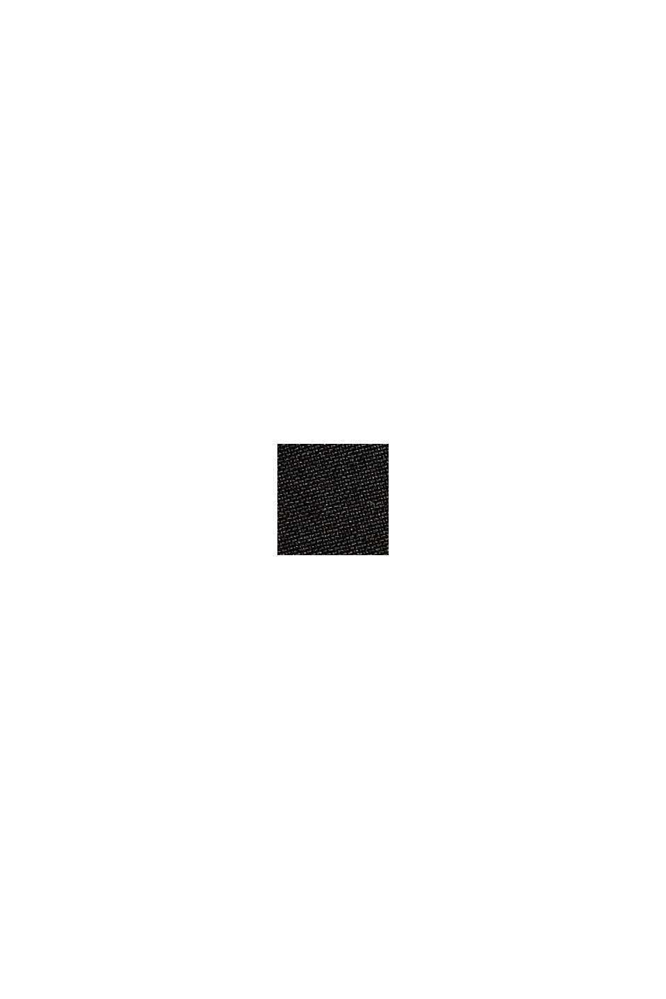 In materiale riciclato: giacca softshell con cappuccio, BLACK, swatch