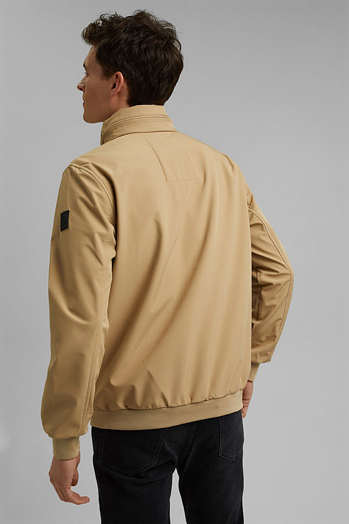 Recycled: softshell jacket with hood, BEIGE, detail image number 3