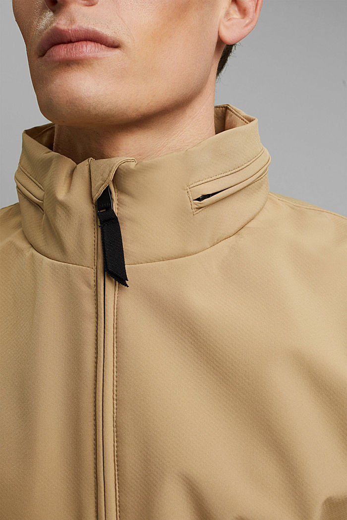 Recycled: softshell jacket with hood, BEIGE, detail image number 2