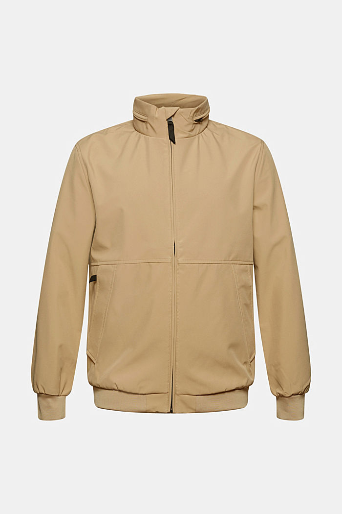 Recycled: softshell jacket with hood, BEIGE, detail image number 6