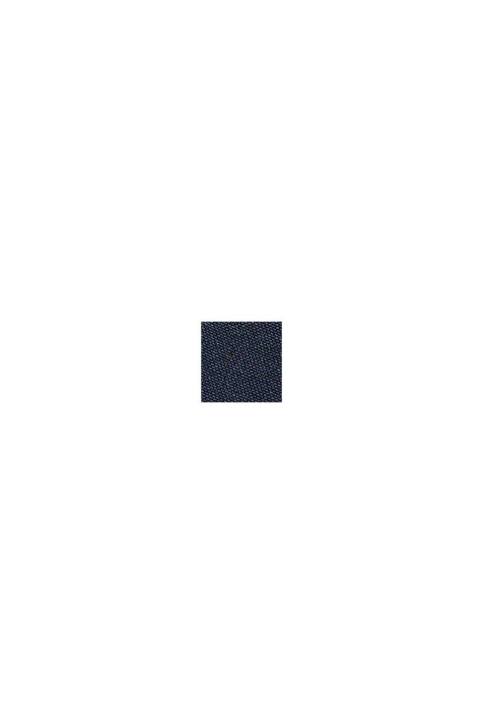In materiale riciclato: giacca softshell con cappuccio, DARK BLUE, swatch
