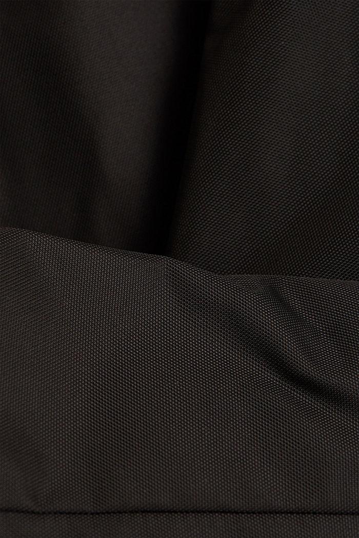 Recycelt: wattierte Bikerjacke, BLACK, detail image number 4