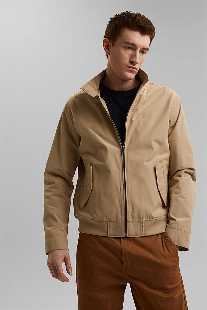 En matière recyclée: la veste Harrington à doublure à carreaux, BEIGE, detail image number 4