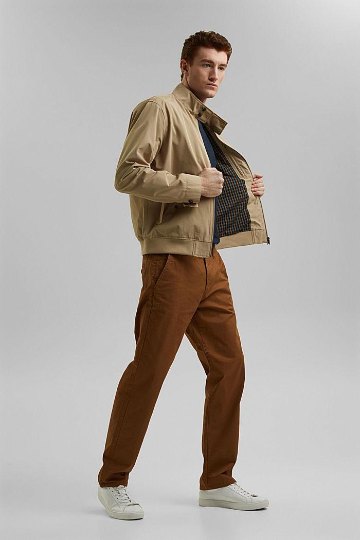En matière recyclée: la veste Harrington à doublure à carreaux, BEIGE, detail image number 1