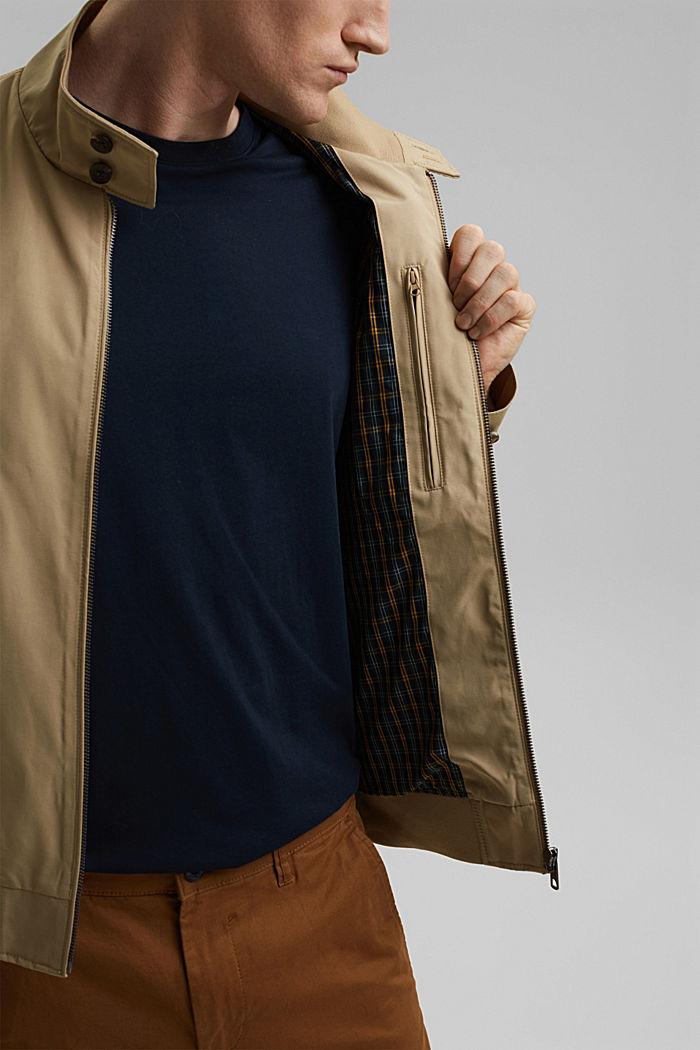 En matière recyclée: la veste Harrington à doublure à carreaux, BEIGE, detail image number 2