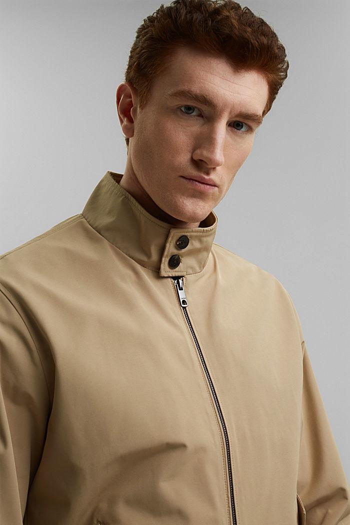 En matière recyclée: la veste Harrington à doublure à carreaux, BEIGE, detail image number 6
