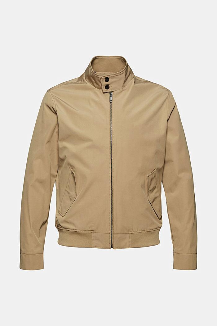 En matière recyclée: la veste Harrington à doublure à carreaux