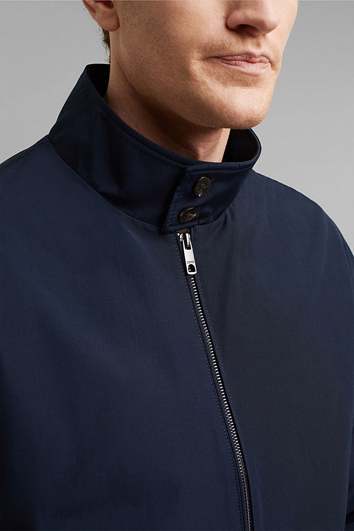 Recycled: Harrington jacket with checked lining, NAVY, detail image number 2
