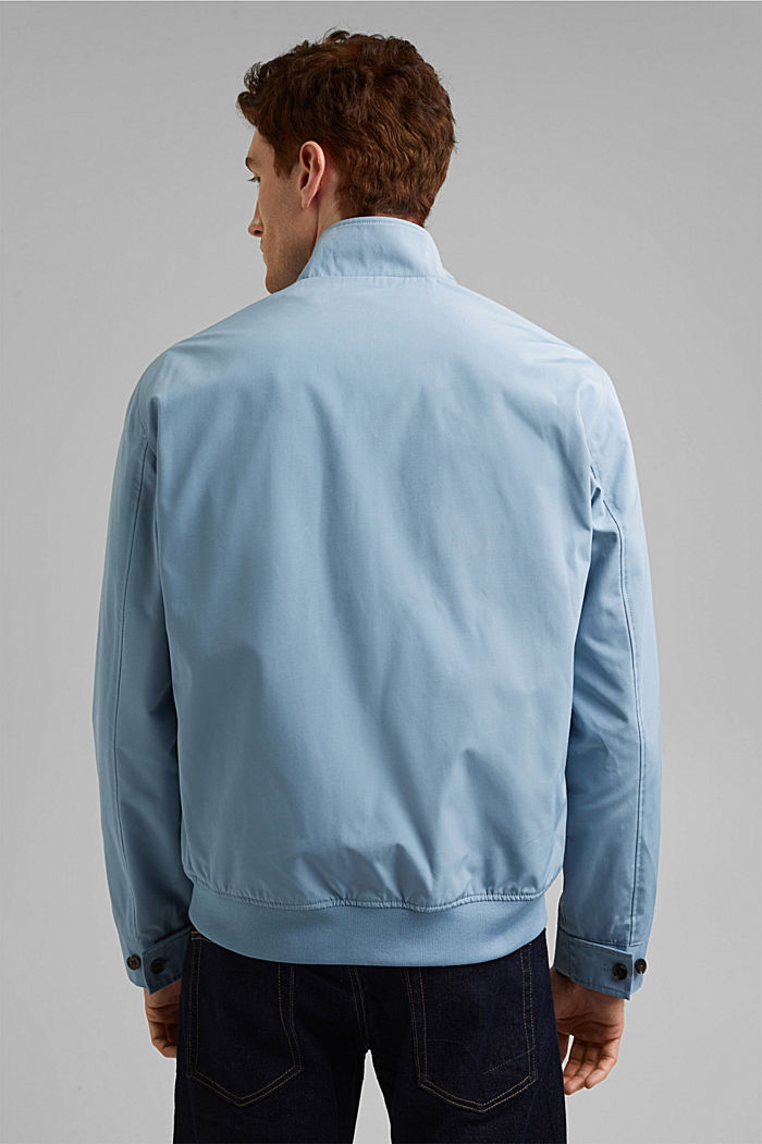 Recycled: Harrington jacket with checked lining, GREY BLUE, detail image number 3