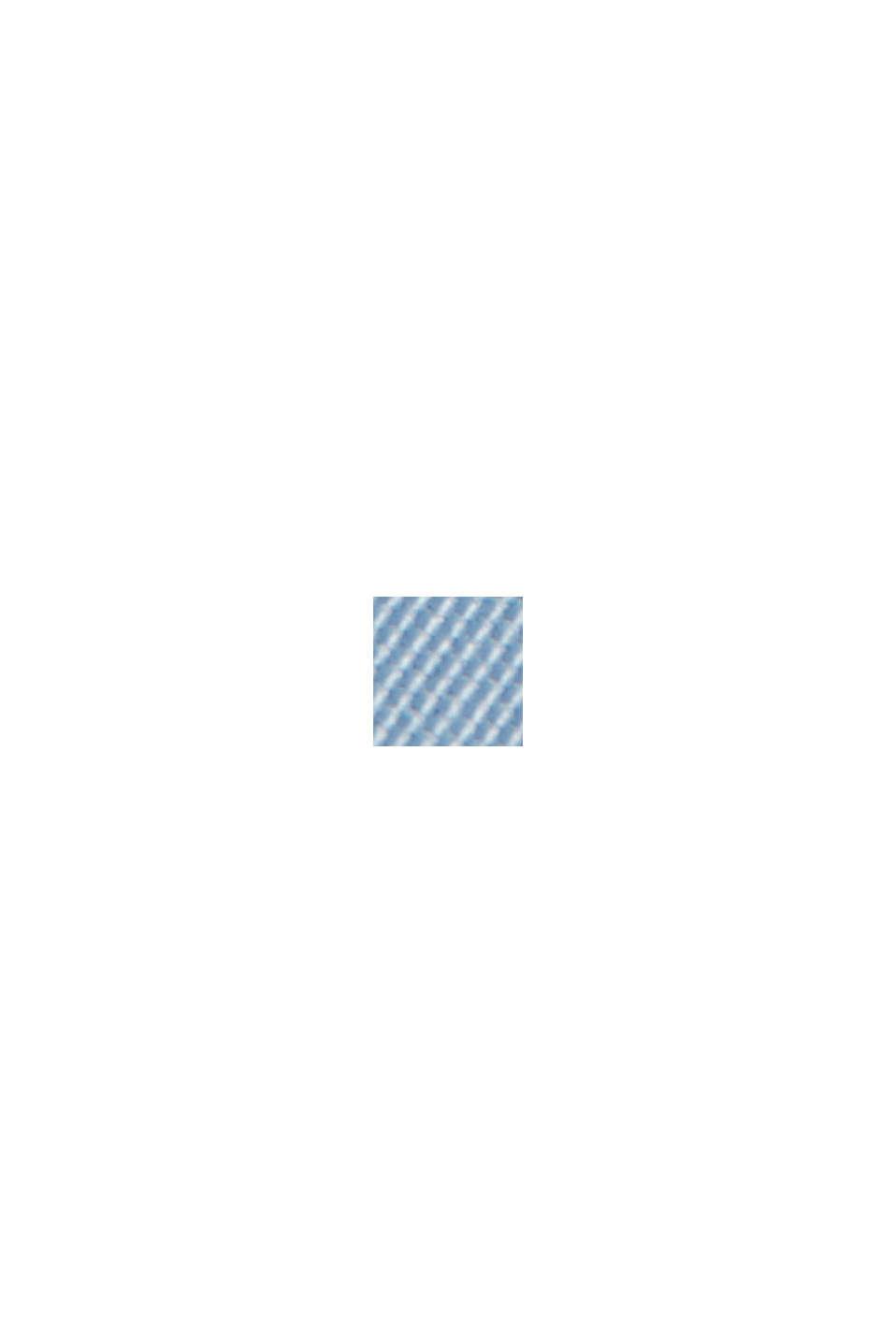 In materiale riciclato: giacca Harrington con fodera a quadri, GREY BLUE, swatch