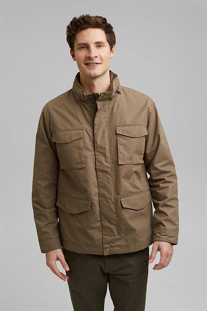 Recycled: Weatherproof field jacket, BROWN GREY, detail image number 0