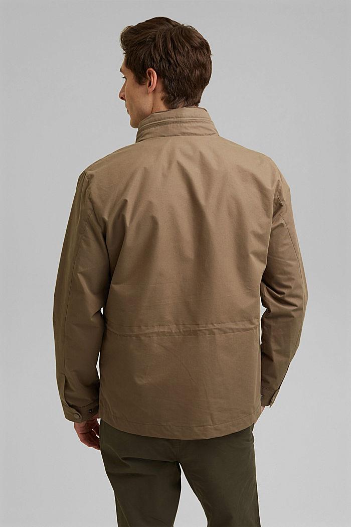 Recycled: Weatherproof field jacket, BROWN GREY, detail image number 3