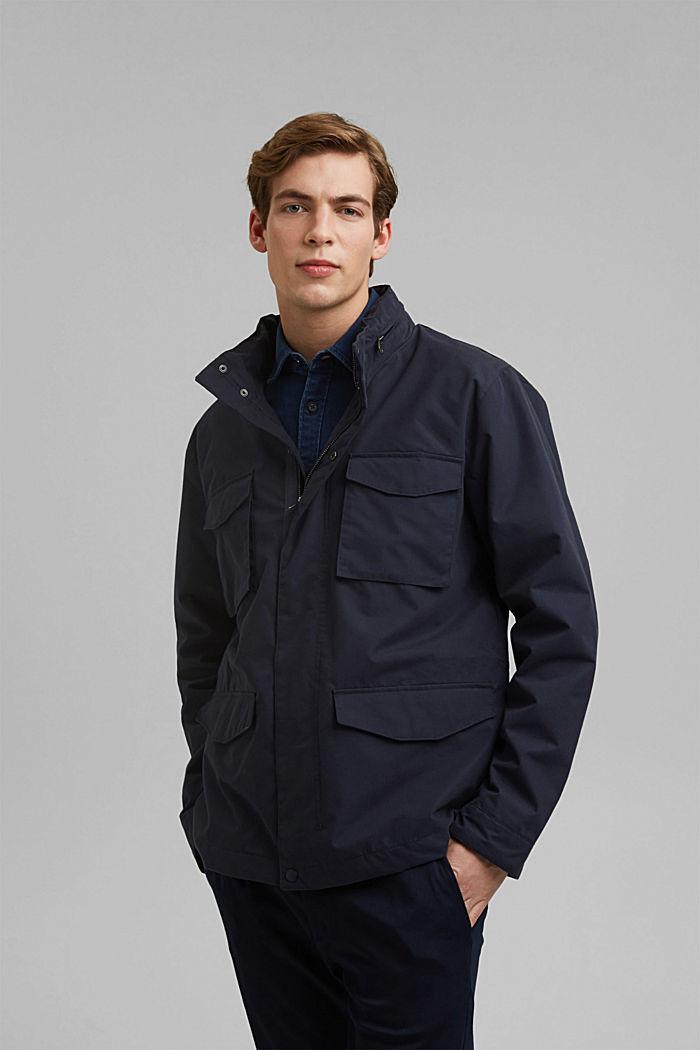 Recycled: Weatherproof field jacket, DARK BLUE, detail image number 0