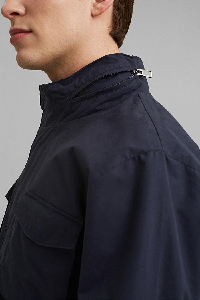 Recycled: Weatherproof field jacket, DARK BLUE, detail image number 2