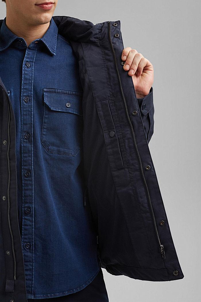 Recycled: Weatherproof field jacket, DARK BLUE, detail image number 5