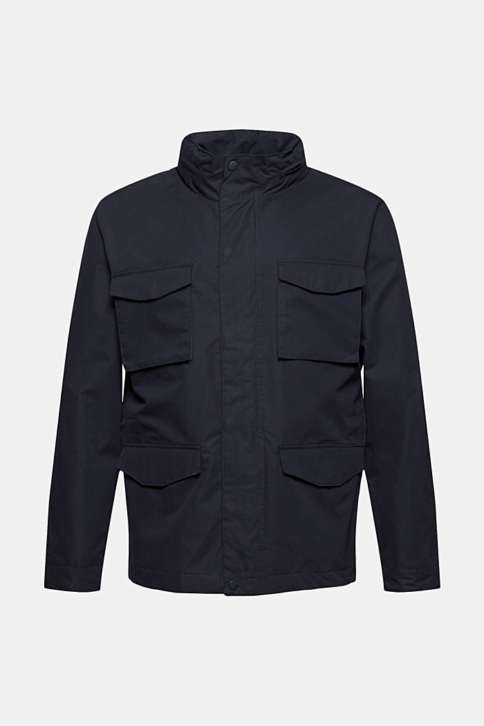 Gerecycled: weerbestendig field jacket