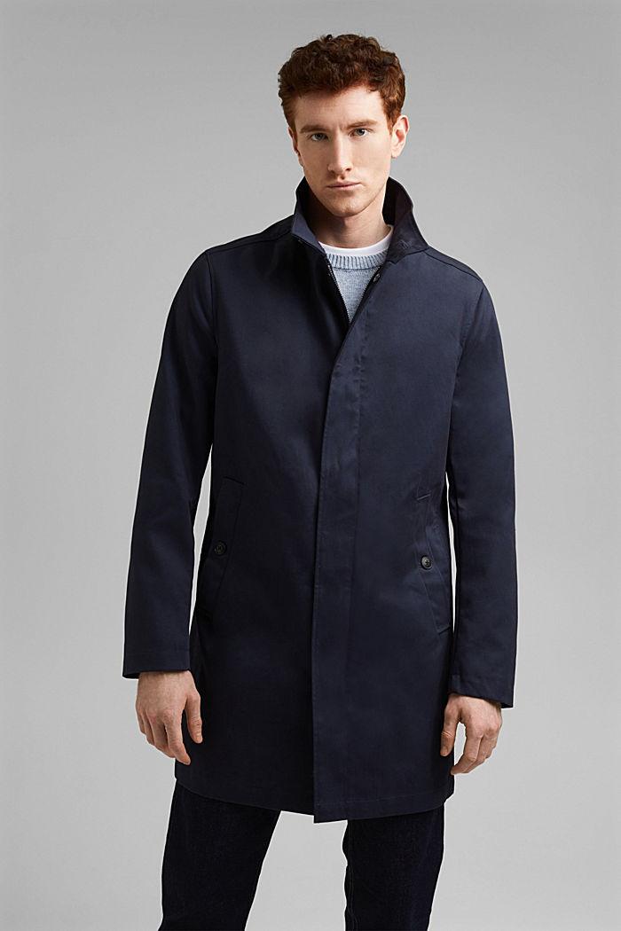 Sommer-Mantel aus Organic Cotton, DARK BLUE, detail image number 0