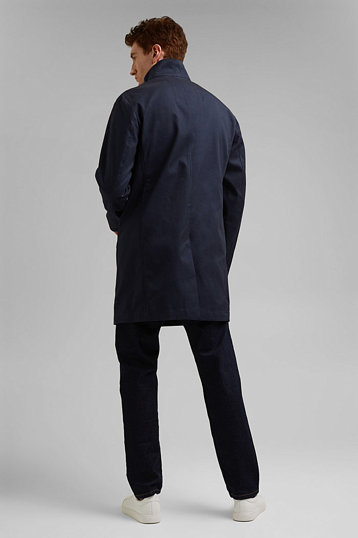 Summer coat made of organic cotton, DARK BLUE, detail image number 3