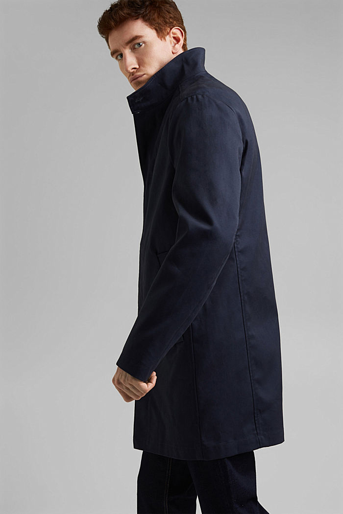 Summer coat made of organic cotton, DARK BLUE, detail image number 4