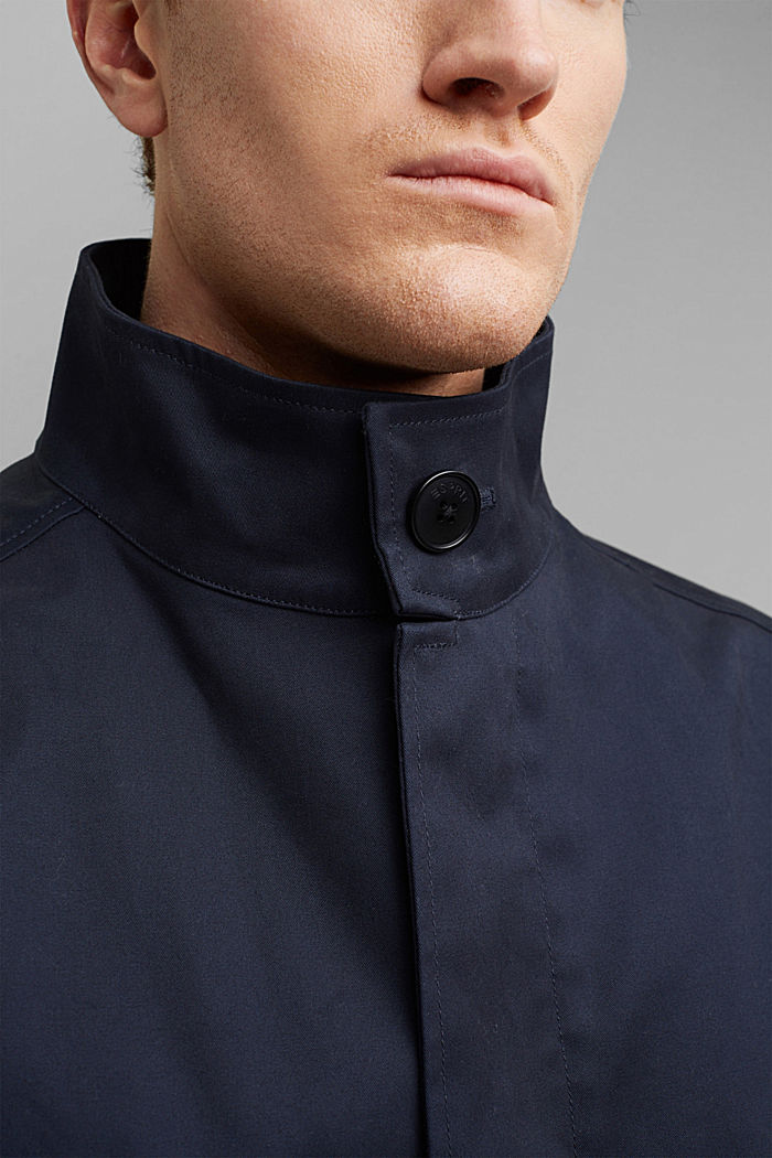 Summer coat made of organic cotton, DARK BLUE, detail image number 2